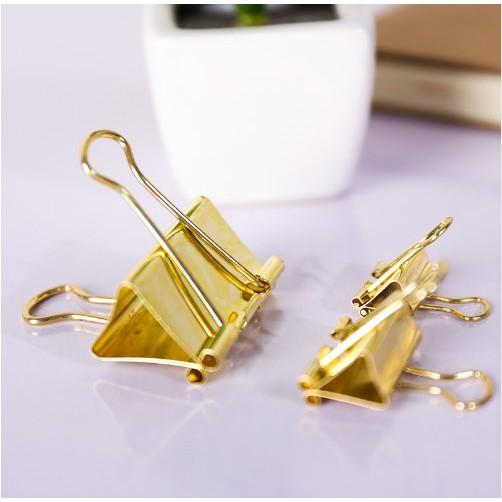 40Pcs 19MM Solid Color Gold Metal Binder Notes Letter Paper Clip