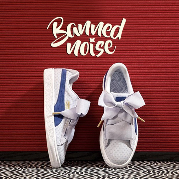 sale retailer 836c8 9778f Ori Puma Suede Basket heart READY STOCK inspired Rihanna Suede Creeper  Black Gum
