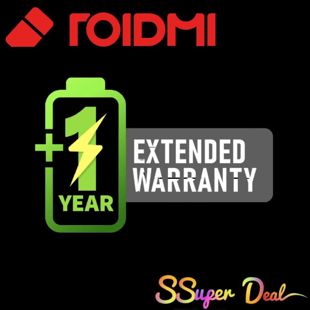 Roidmi Eve Plus 1 Year Battery Warranty Extension