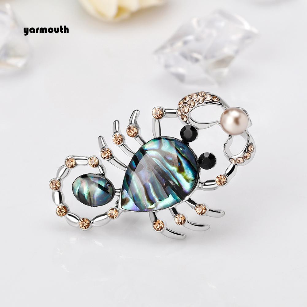e9e6f247db YAR_Fashion Women Rhinestone Badge Hat Bag Dress Collar Decor Scorpion  Brooch Pin