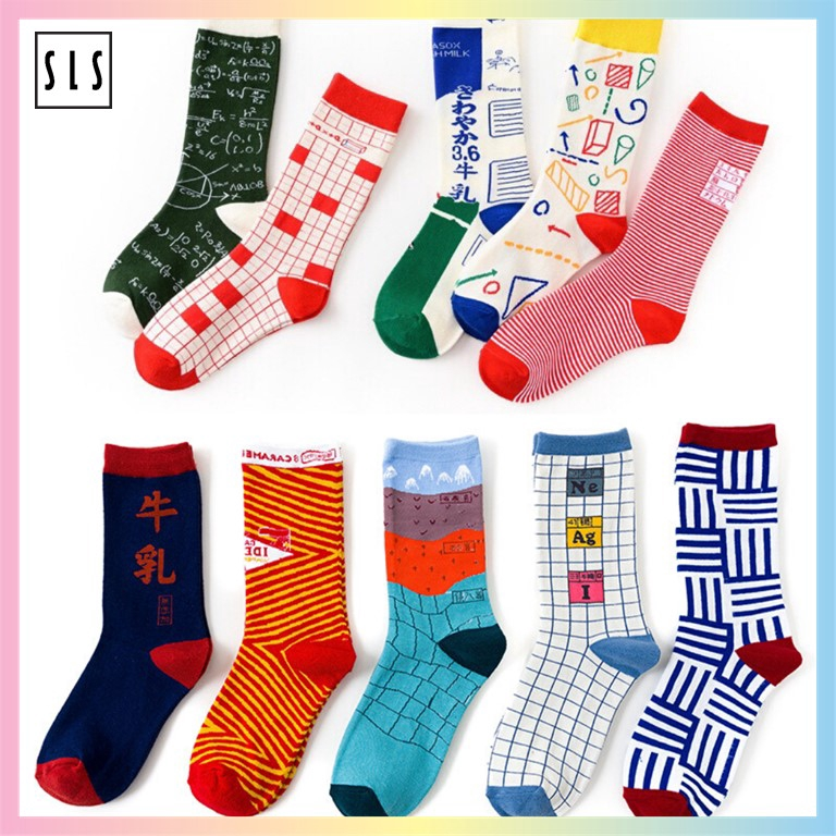 Unisex New Sports Cotton Thick section Casual Batman Pattern Long Tube Socks