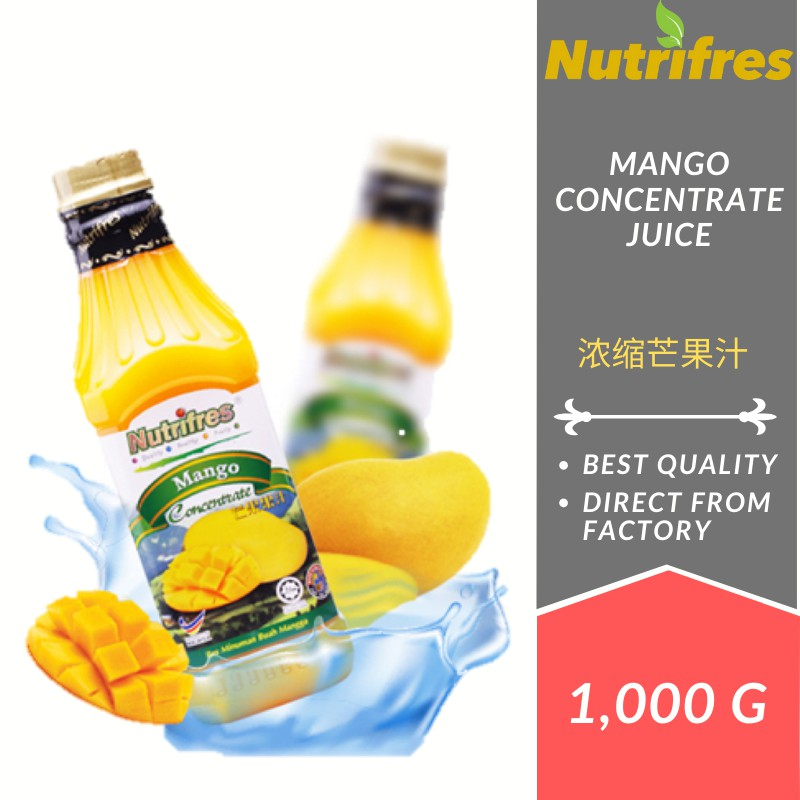 Nutrifres Mango Fruit Juice Concentrate / Cordial  (1 Liter)