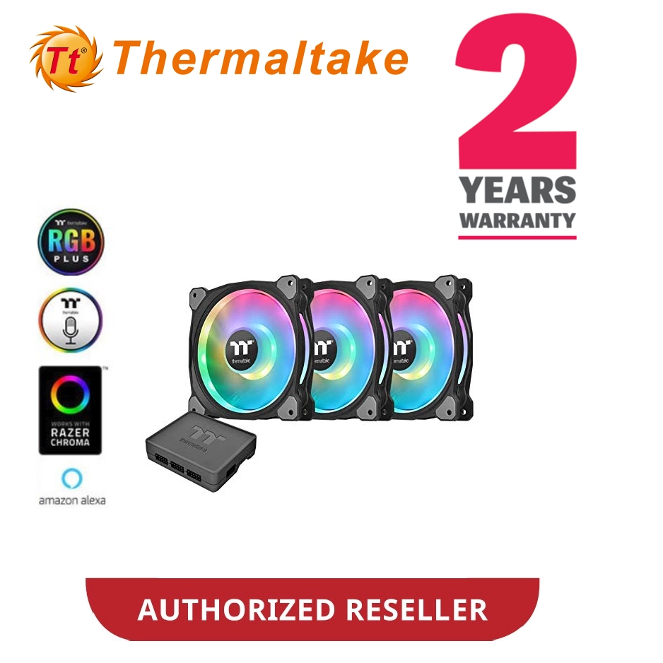 Thermaltake Riing Duo 12 RGB Radiator Fan TT Premium Edition ( 3 Fan Pack )  CL-F073-PL12SW-A