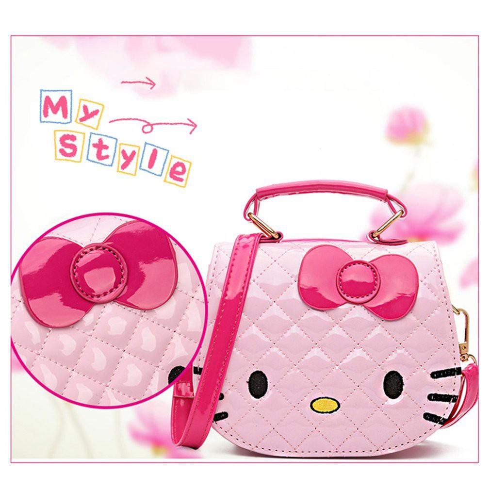 950cba3ee8  Local Hello Kitty Bag Cartoon Shoulder Handbag Cute Sling Tote Beg Bags  Kids