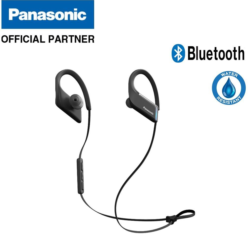 8394ed779ae Panasonic RP-BTS55BE Waterproof Bluetooth Wireless Sport Clip In-Ear  Earphones   Shopee Malaysia