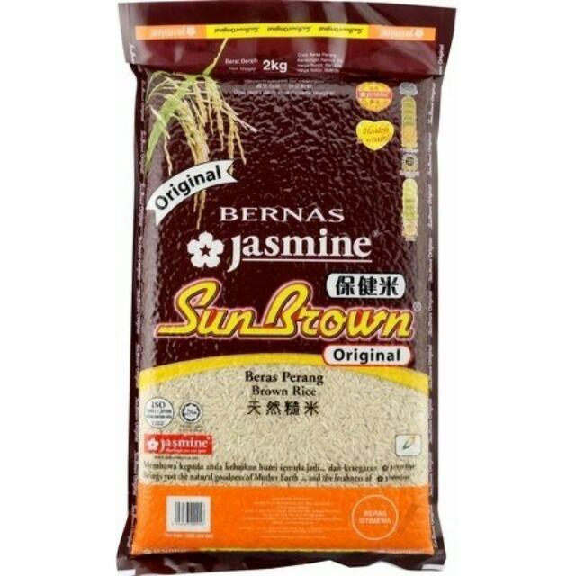 Jasmine Original Sun Brown Rice 2kg Shopee Malaysia