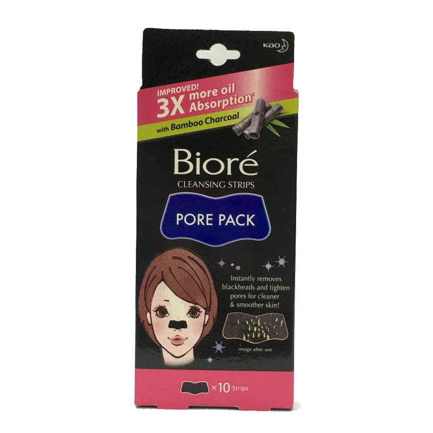 Biore Pore Pack Black Nose Cleansing Strips 10s
