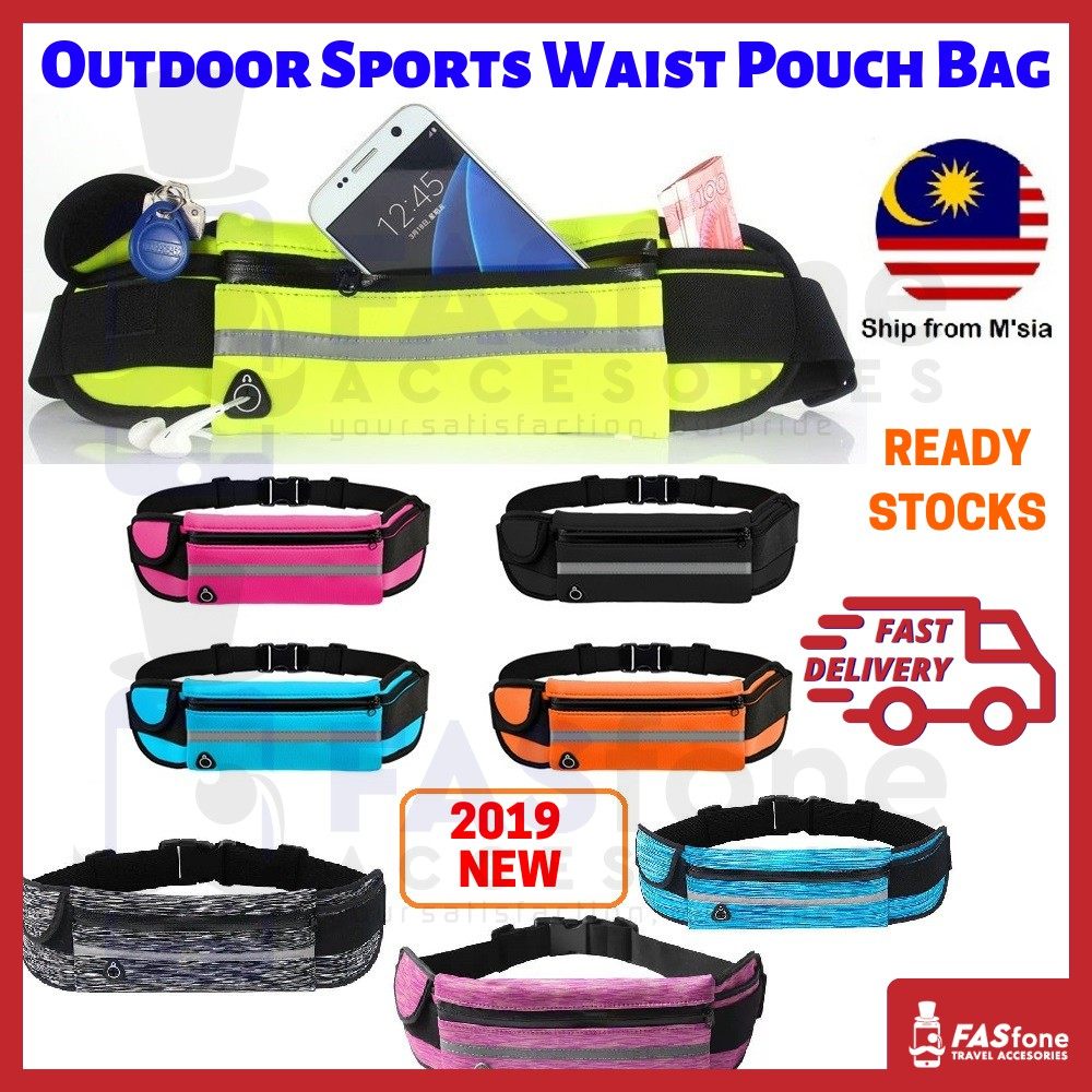 ba21dfb3150d Waist Bag Pouch Bag Outdoor Waterproof Running Sports Travel New 2019