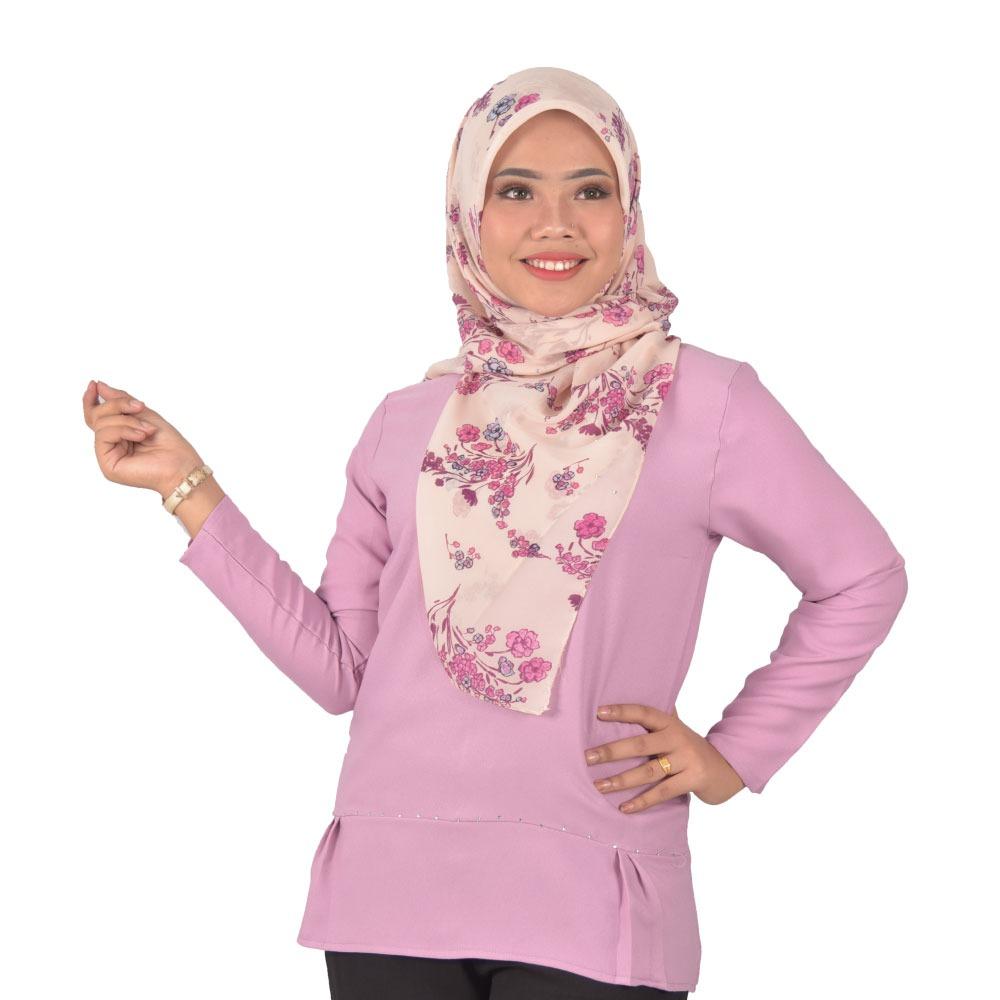 [Readystock] ARISA Fashion Blouse Design -Premium Como Crepe Material Long Sleeves Plain-