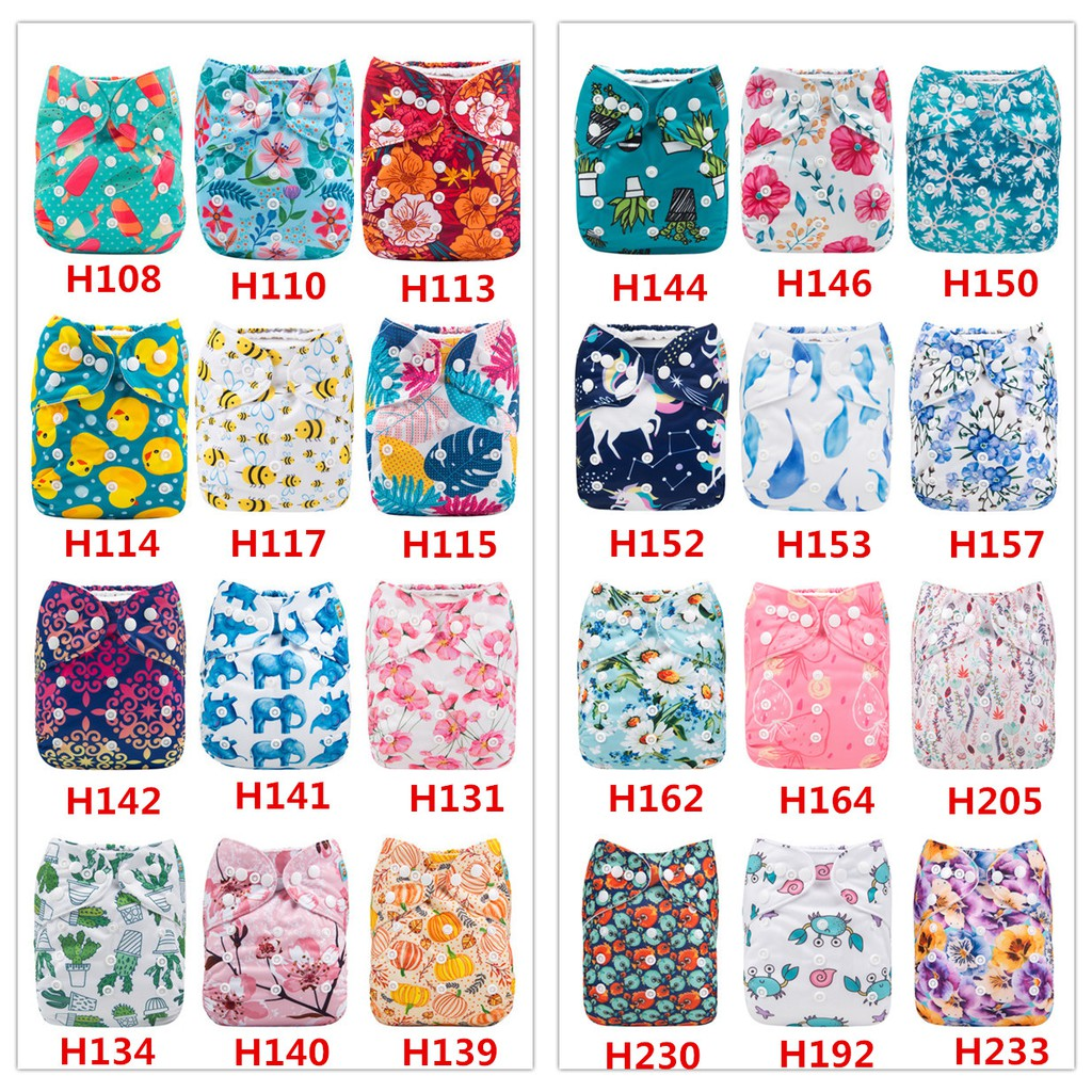 High Quality Genuine ALVA Baby Cloth Diapers One Size Reusable Washable Pocket Nappies Cover Bayi lampin kain