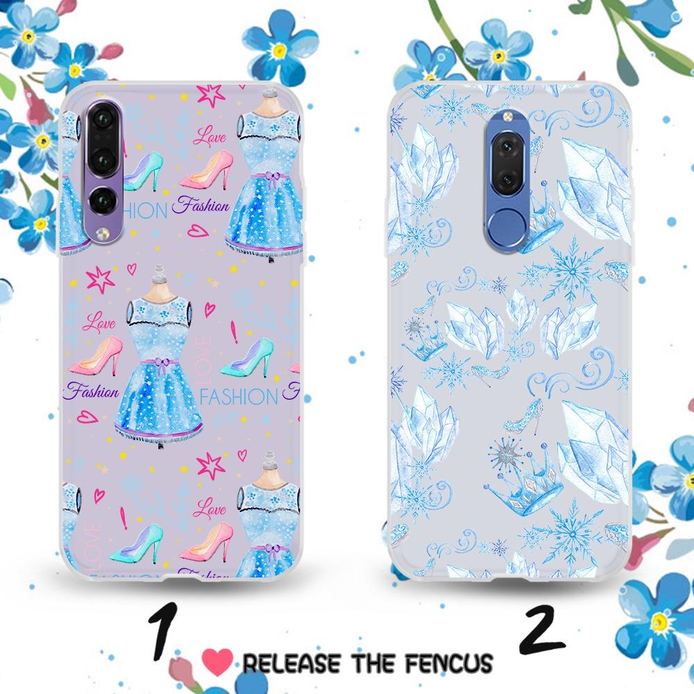 ❄️Huawei Y5 2017 Y5 Prime Y6 2018 Y6 ii Cover Couple Ice Queen Soft Phone  case