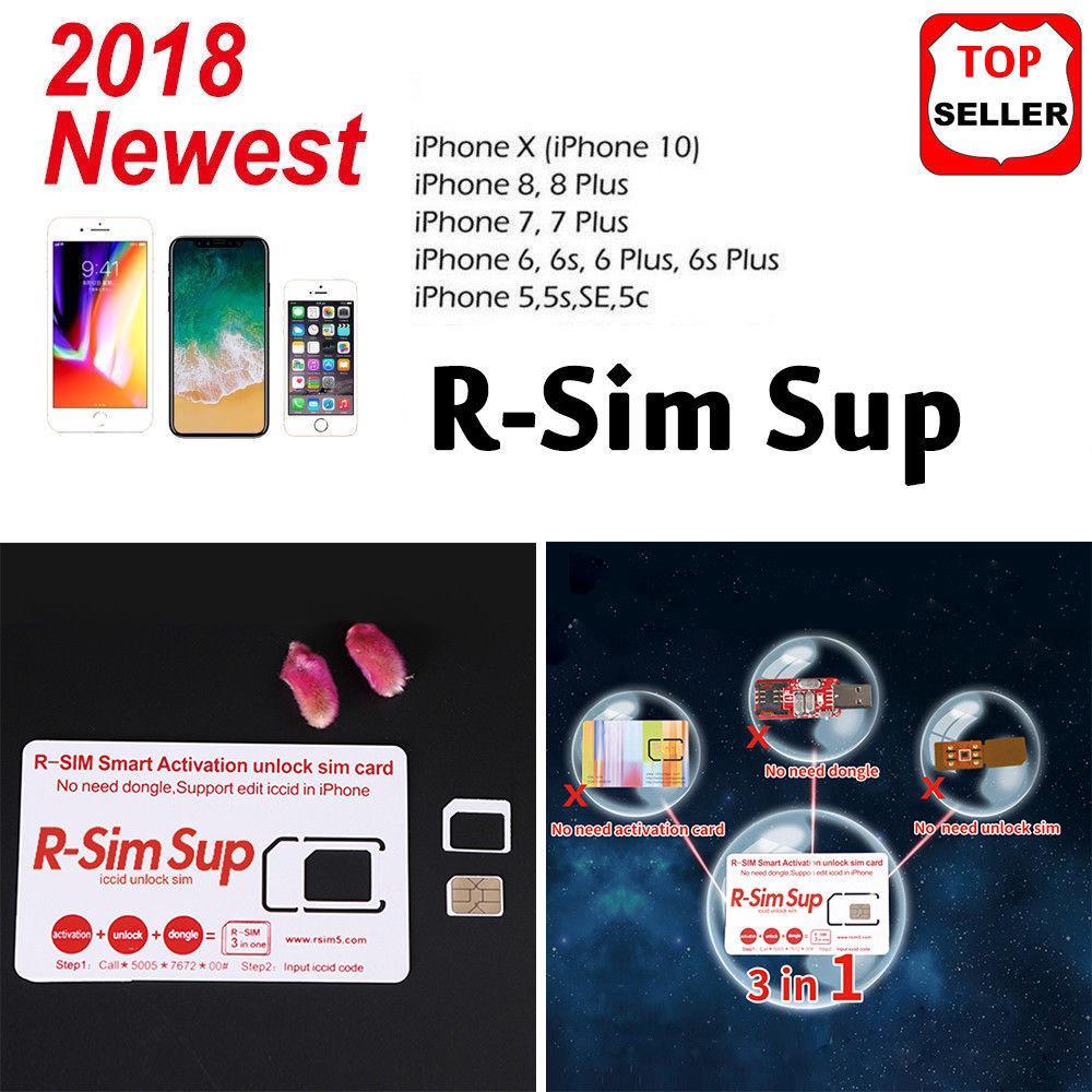 Iphone 7 Sim Karte Entsperren.Rsim 12 2018 R Sim Sup Nano Unlock Card For Iphone X 8 7 6 6s 4g Lte