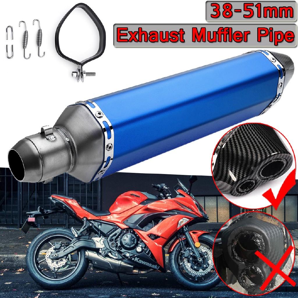 Motorcycle Exhaust System Muffler Universal Dirt Bike ATV Exhaust Slip 38-51mm
