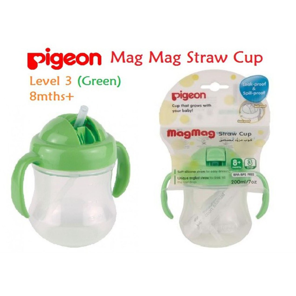 200ml Pigeon MagMag Step 3 BPA Free Baby Straw Drink Training Cup For 8 Months