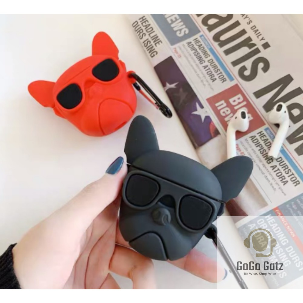 {Ship Out Within 24 Hours} Airpod 1/2/Pro Case - Black / Red Dog