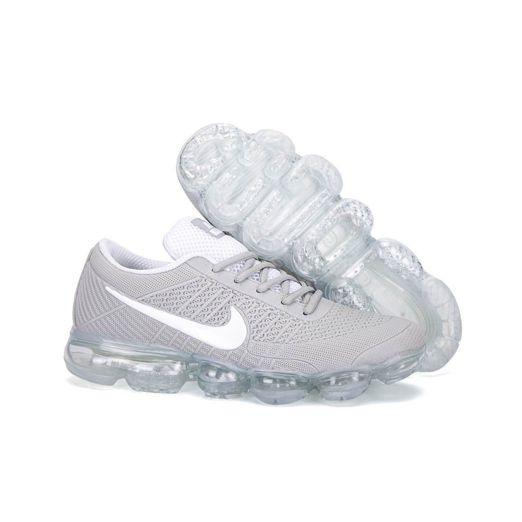 the latest ad754 79d3b Mens Nike Air Vapormax Flyknit KPU Shoes Light Grey/White
