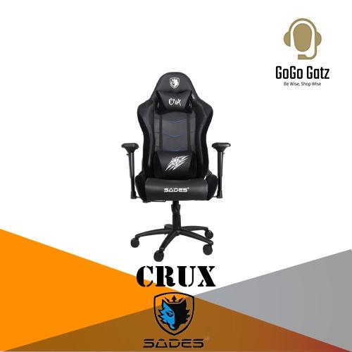 {SD-SA-AD8-CRUX-BLACK} Sades Crux Gaming Chair (Black)
