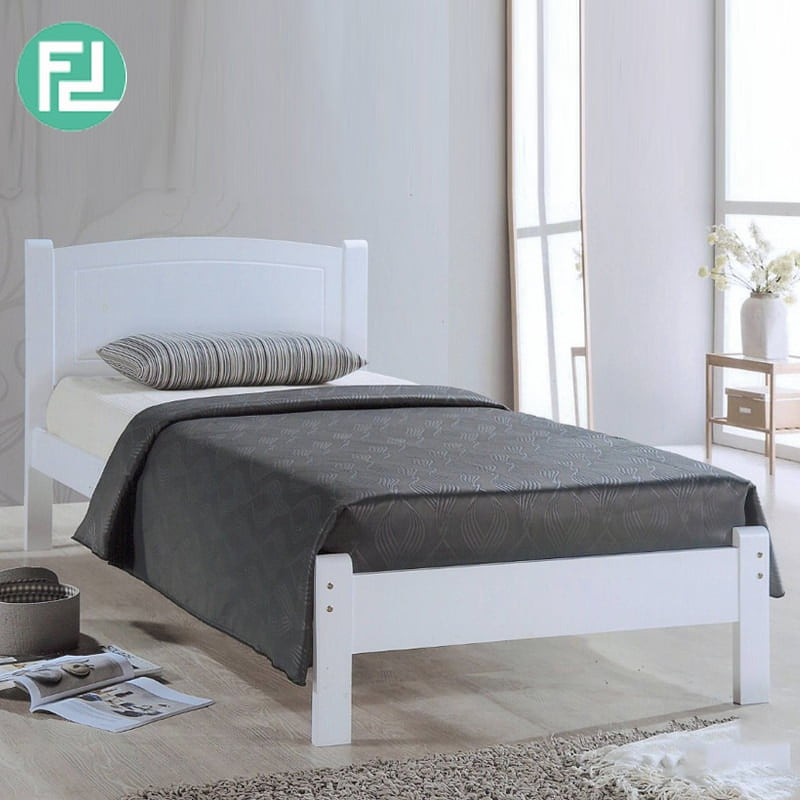 Furniture Direct solid wooden single bed frame / Katil Kayu / Katil Bujang / Single Bed/ katil single