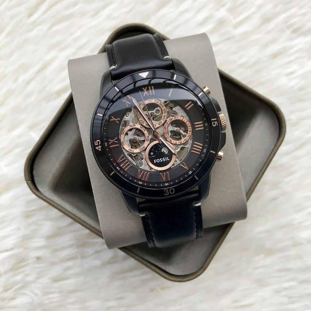 Fossil Original Fs5132p Grant Chronograph Black Leather Watch Jam Tangan Fs4812 Dial Mens Shopee Malaysia