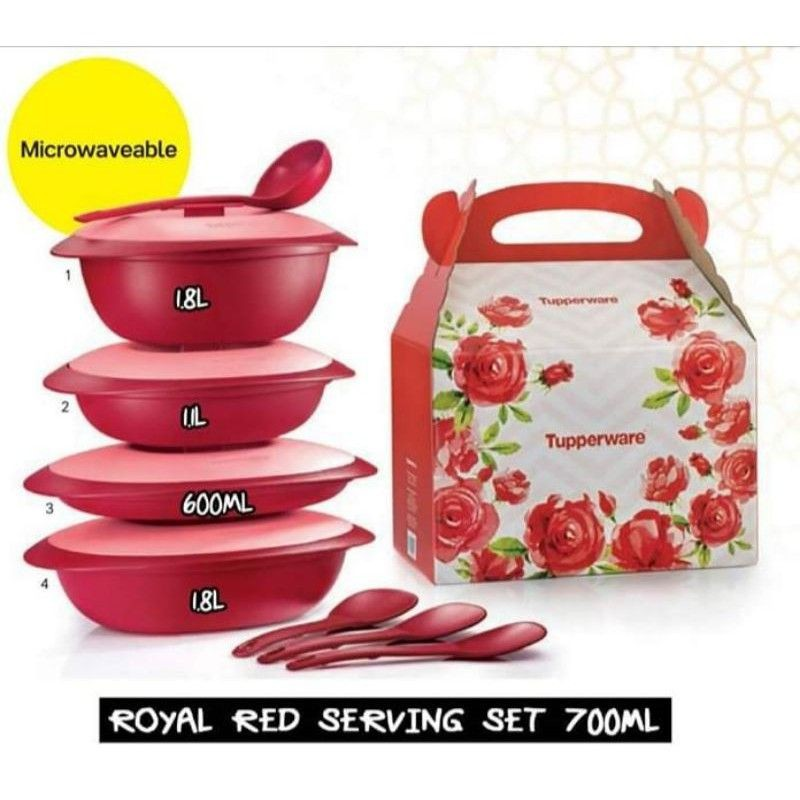 💥READY STOCK💥ROYAL RED SERVING SET