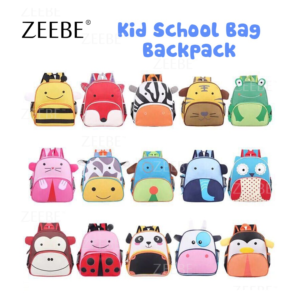 ZEEBE Ready Stock Pretty Unisex Kids Cartoon Animal Design School Backpack