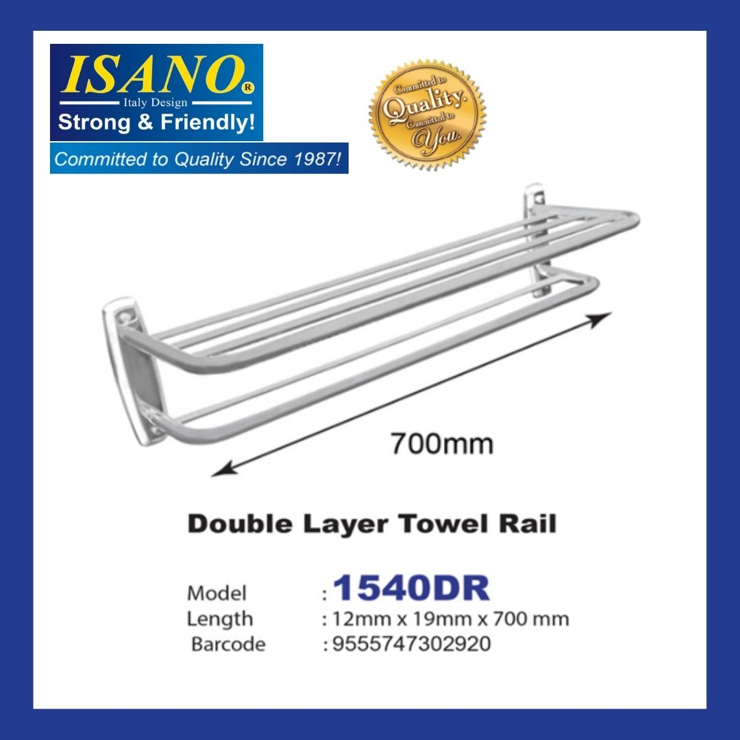 ISANO 1540DR Double Layer Towel Rail