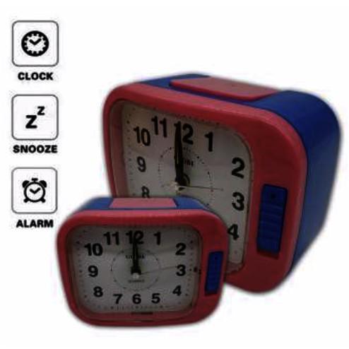 Globe Alarm Quartz Clock Loud Sound With Night Light BH108W