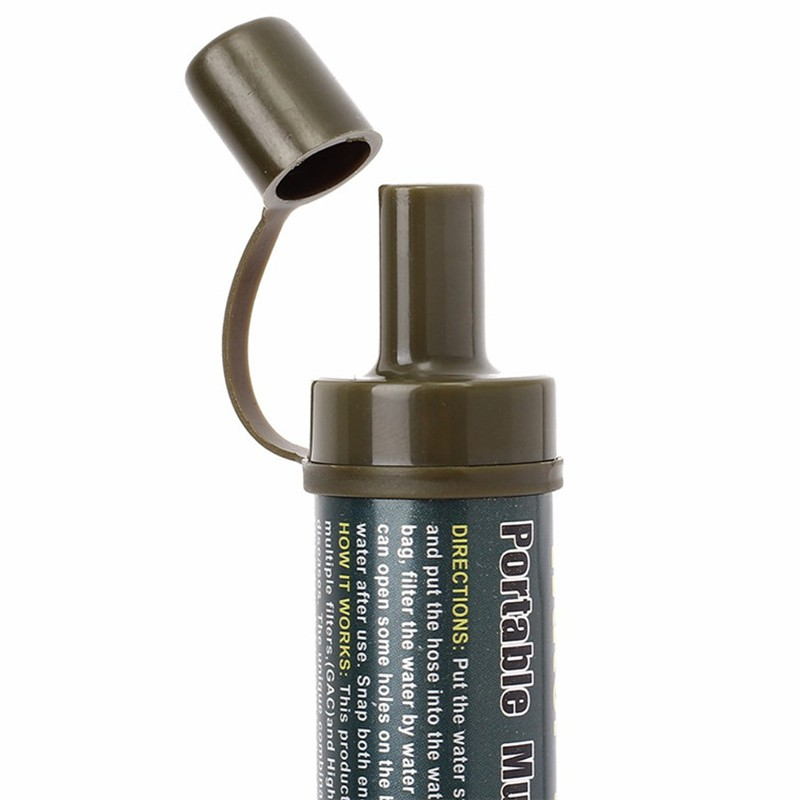 Water Filter Purifying With Tube Wild Field Drinking