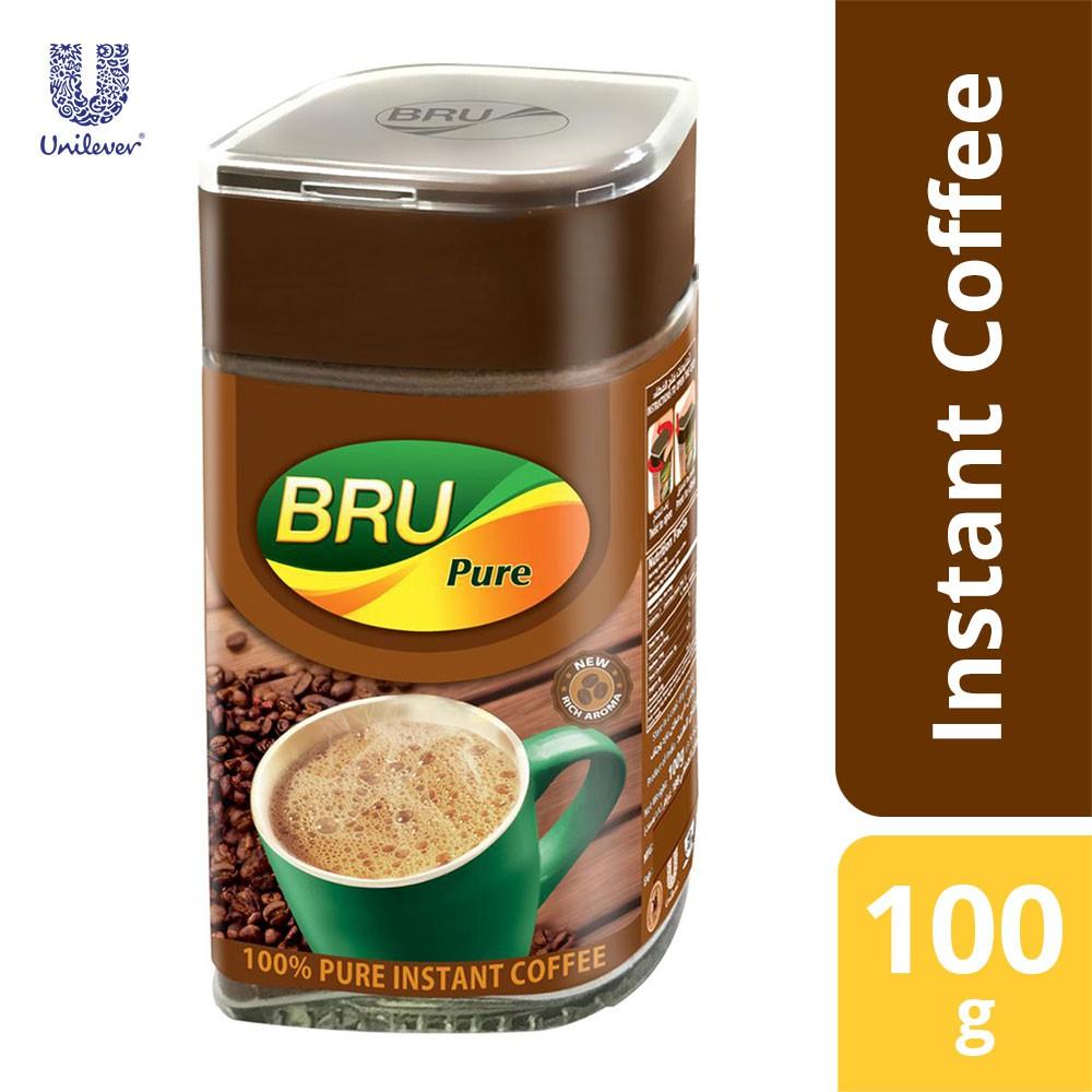 Bru Pure Instant Coffee 100% 100gm