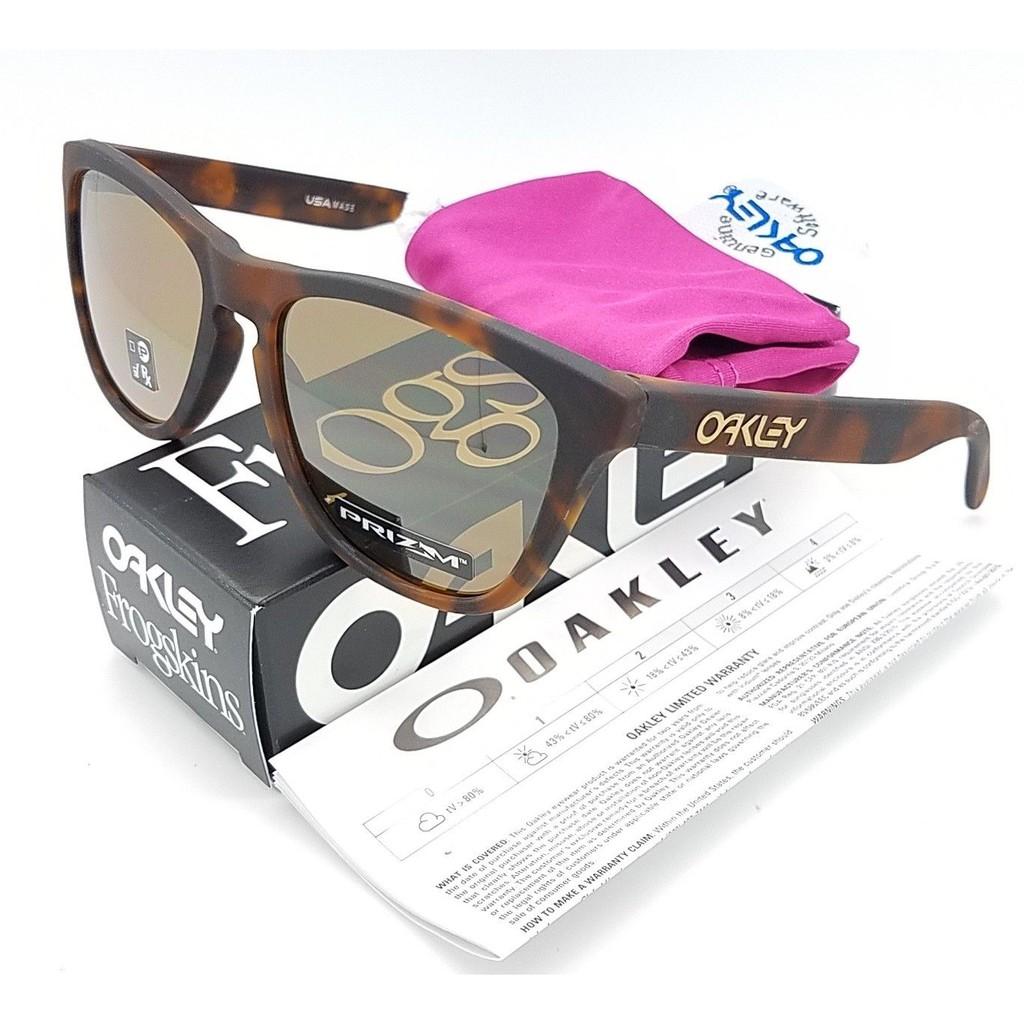 1a47515eb1 NEW Oakley Frogskins sunglasses Silver Checkbox Prizm Sapphire 9013-C055  blue