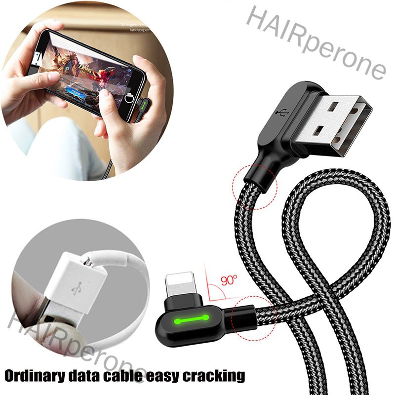HAIRperone 1Pc/2Pcs For iPhone X iPhone 8 Plus 7 Apple Interface USB Charger Cable Charging Data Cord