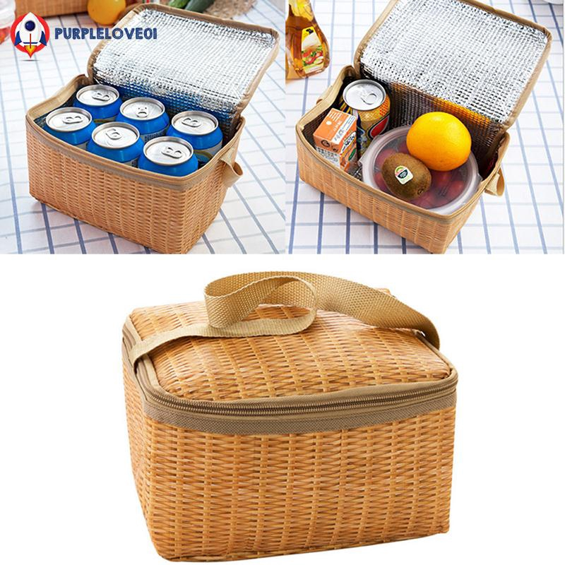 02a199c003e0 Bento Bag Economic Canvas Meal Fruits Lunch Box Tote