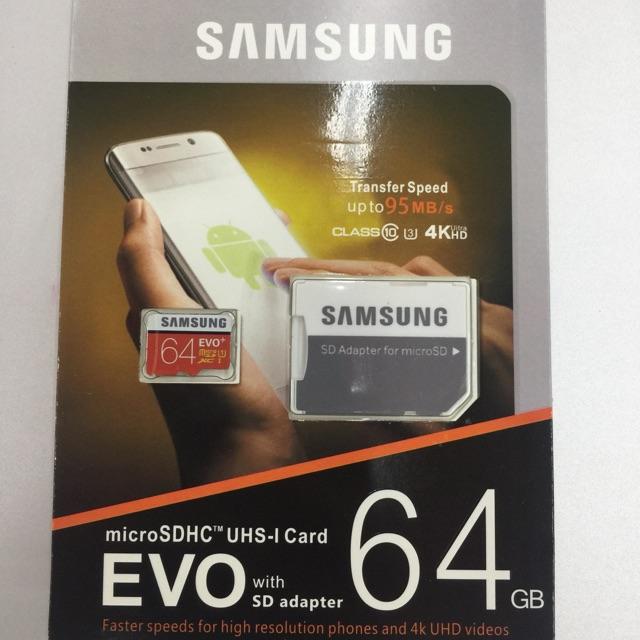 ORIGINAL 64GB C10 - Samsung Memory Card with Adaptor