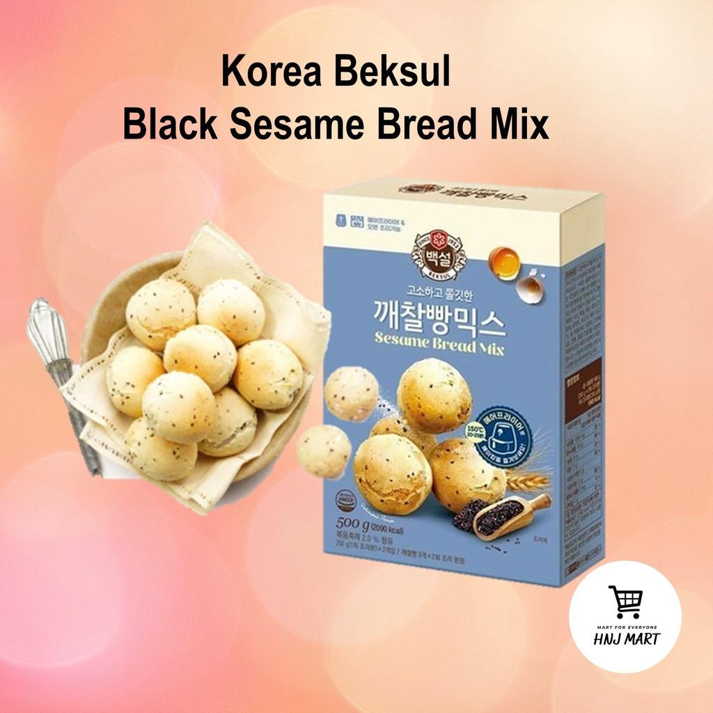 Korea Beksul Black Sesame Bread Mix 500g