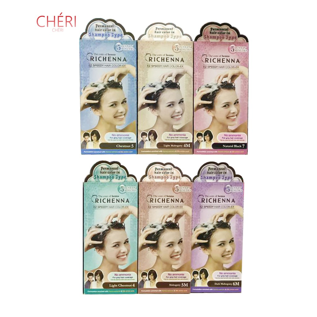 Richenna Shampoo Type Perfume Permanent Hair Color Shopee Malaysia
