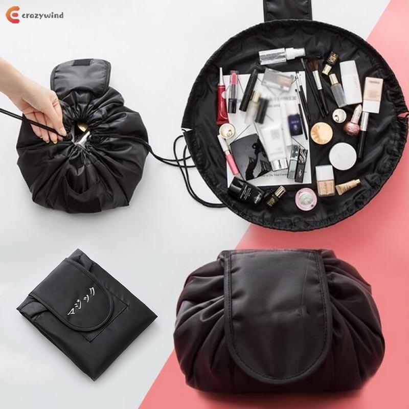 ed39b5521020 Fashion Travel Folding Makeup Bags Waterproof Solid Color Drawstring Women  Ladie