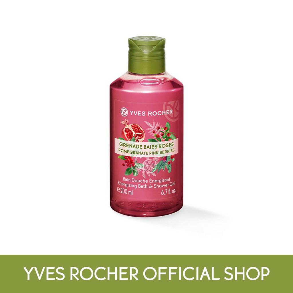 Yves Rocher Les Plaisirs Nature Pomegranete Pink Berries Shower Gel (200ml)