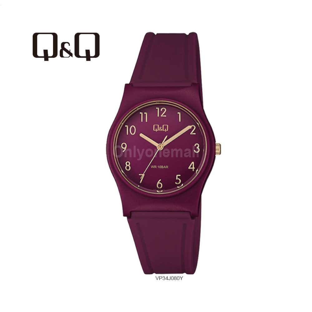 Q&Q VP34J080Y Ladies 33mm Casual Analogue Watch 100m Water Resistance