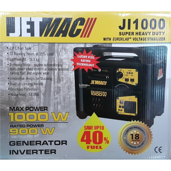 JETMAC 1000W OUTDOOR GENERATOR INVERTER POWER SUPPLY