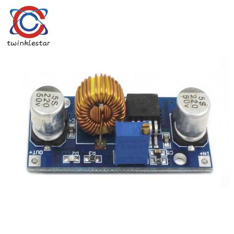 5PCS 5A Lithium Charger CV CC buck Step down Power Supply Module LED Driver New