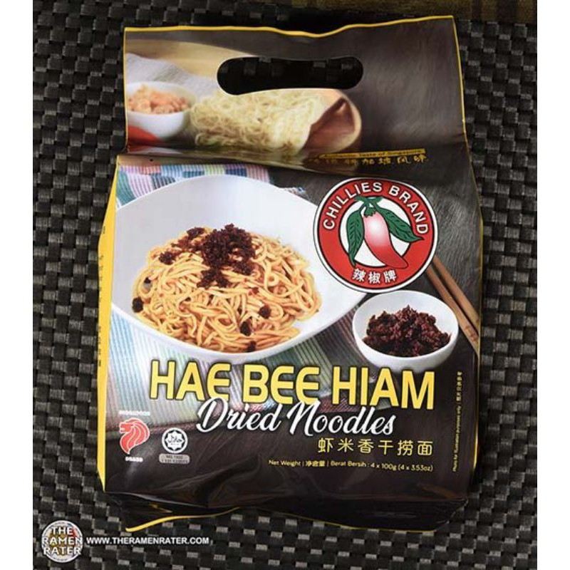 TOP RATEDHAE BEE HIAM  INSTANT DRIED SPICY PRAWN 虾米面 NOODLES (4 x 100G)