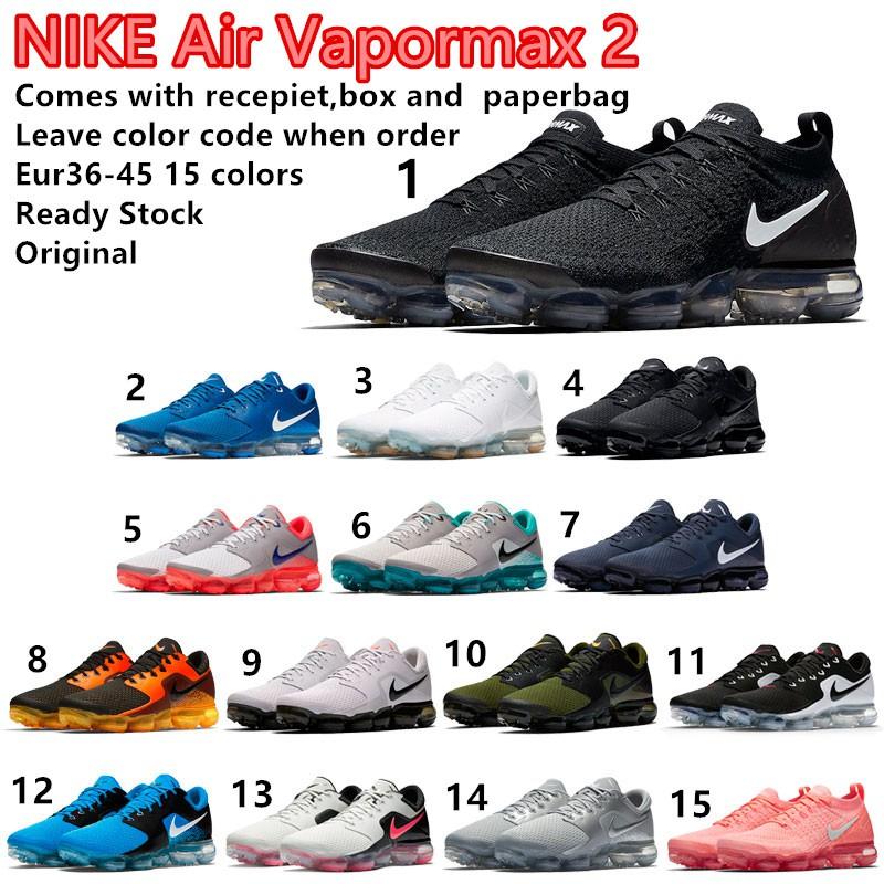 15 Colors Reasy Stock Original Nike Air Vapormax 2 Men Women Running