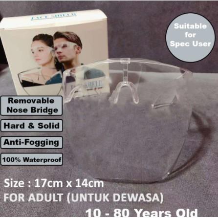 READY STOCK Full Face Shield Mask Large Oversized (no dizzy )Anti-fogging And Anti-splash Mirror Protective Acrylic