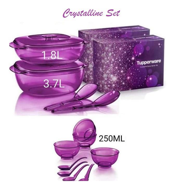 Tupperware  - Crystalline Serving Royal Purple