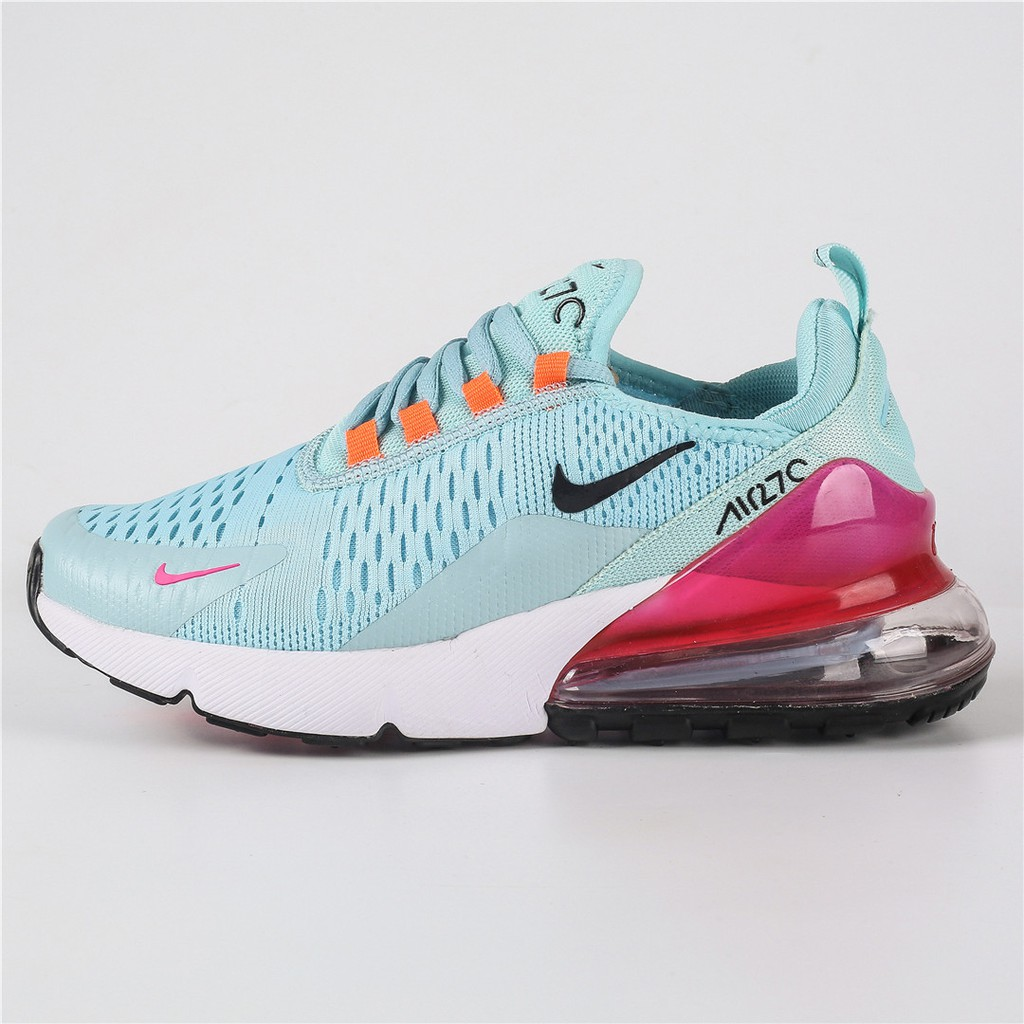 a49440382a10 Nike Air Max 27C Running Shoes Blue Rose White
