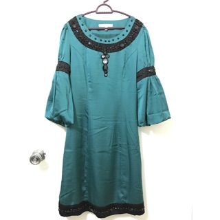 Baju raya kurung moden hijau emerald green  d190af8875