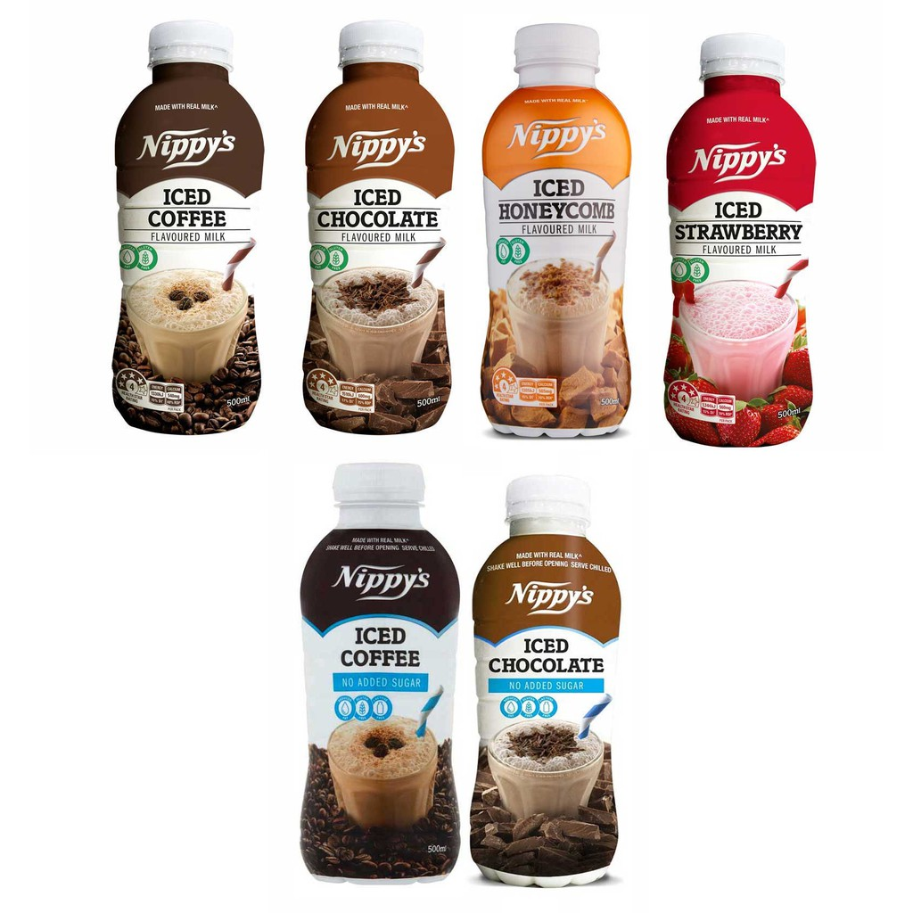 Nippy's Iced Chocolate /Iced Coffee/ Iced Strawberry Bottle 500ml