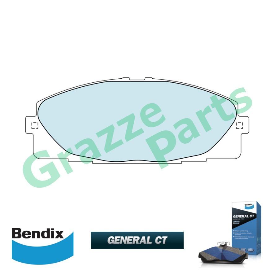 Bendix General CT Brake Pad Front DB1772 - Toyota Hiace 2004 KDH200 KDH202