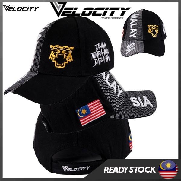 [READY STOCK] Velocity Velocool Malaysia Cap Black White Tiger