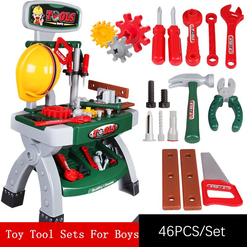 Kids Childrens Child Toy Building Tool Kit Boys Builders Constructions Play *uP0